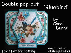 3D Double Pop-out - Bluebird