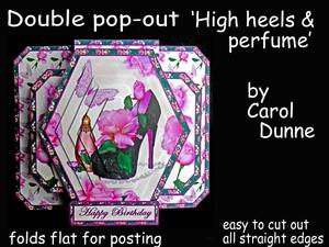 3D Double Pop-out - High Heels and Perfume
