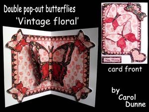 Double Pop-out Butterfly - Vintage Floral