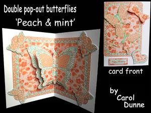 Double Pop-out Butterfly - Peach and Mint