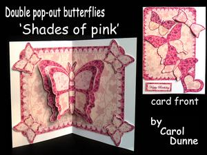 Double Pop-out Butterfly - Shades of Pink