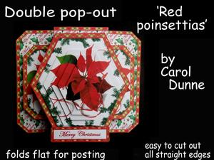Double Pop-out 'red Poinsettias'