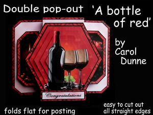 Double Pop-out 'a Bottle of Red'
