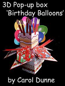 3D Pop-up Box- Birthday Balloons