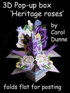 3D Pop-up Box- Heritage Roses