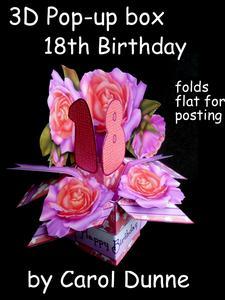 3D Pop-up Box- 18th Birthday