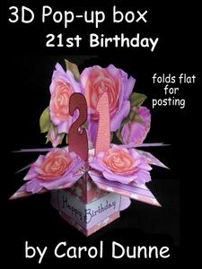 3D Pop-up Box- 21st Birthday