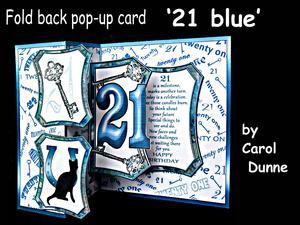 Fold Back Pop-up - 21st Blue