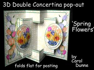 3D Concertina Pop-out - Spring Flowers