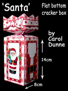 Flat Bottom Cracker Box- Santa