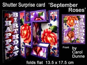 Shutter Surprise Card - September Roses