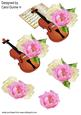 Violin and Roses Decoupage