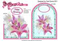 Cutaway Pink& White Lilies