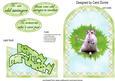 Hamster Golfer Cutaway Card