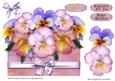 Box of Pansies - Over the Top Card