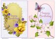 Card Fronts - Roses and Dogwoods