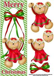 Gingerbread Girl Christmas Large Dl