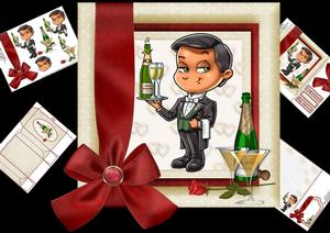 8x8 Anniversary Congratulations Valet Mini Kit