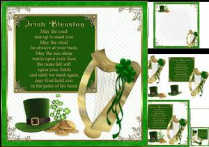 8x8 Irish Blessing 3 Mini Kit