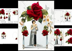 Gatsby Glamour with Roses Mini Kit 1