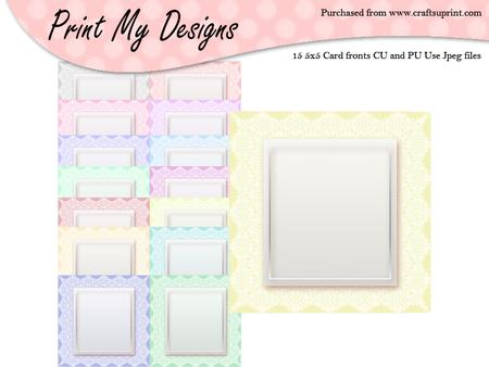 5x5 Card Fronts Set 10