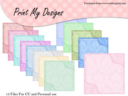 5x5 Damask Card Fronts
