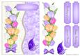 Purple Tulips Crinkle Card Front