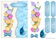Blue Tulips Crinkle Card Front