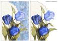 Blue Tulips Crinkle Envelope Card