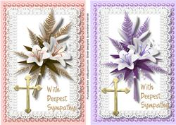 Two Beautiful Sympathy Cards ,