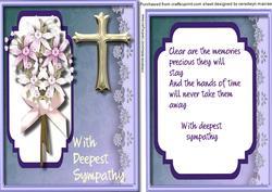 Sympathy with Verse Lilac ,