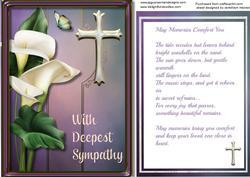 Sympathy, May Memories Comfort You,