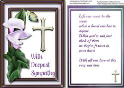 Sympathy, Forever in Our Hearts ,