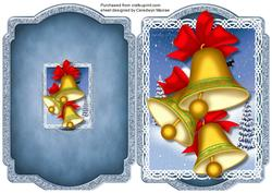 Print, Cut, and Fold, Christmas Bells,