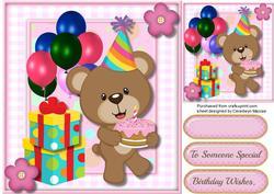 Little Bears Birthday Cake , 2,