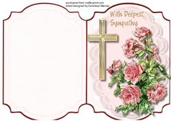 Print and Fold, ,with Deepest Sympathy 2