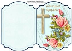 Print and Fold , Deepest Sympathy 3,