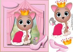 Princess Kitty , the Glass Slipper and the Mouse,