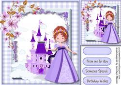 Beautiful Princess in Purple ,