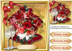 Red Roses Ina Cup Birthday/anniversary,