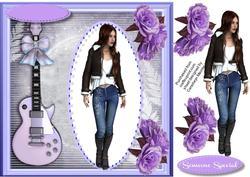 Lovely Guitar Girl ,