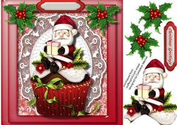 Lovely Santa on a Cupcake ,