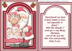 Mr & Mrs Santa Claose, with Verse,