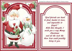 Santa and the Snowman , with Verse,