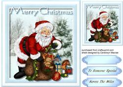 Santa and His Sack ,