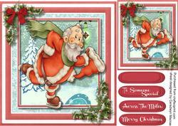 Santa's Skating Round the North Pole ,