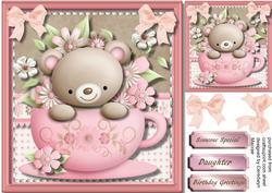 Snuggle Bear in a Tea Cup,