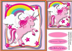 Lovely Pink Magical Unicorn ,