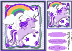 Lovely Magical Lilac Unicorn ,