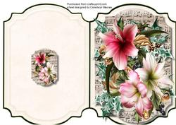 Print, Cut, and Fold, Festive Amaryllas,